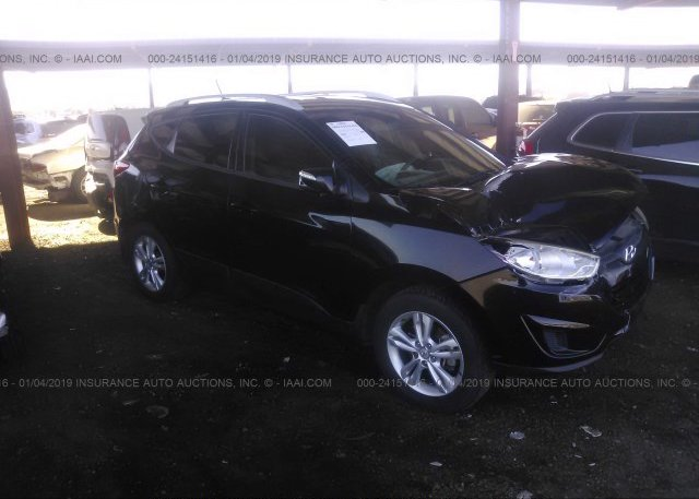 Km8ju3ac8cu472152 Salvage Black Hyundai Tucson At Phoenix Az On