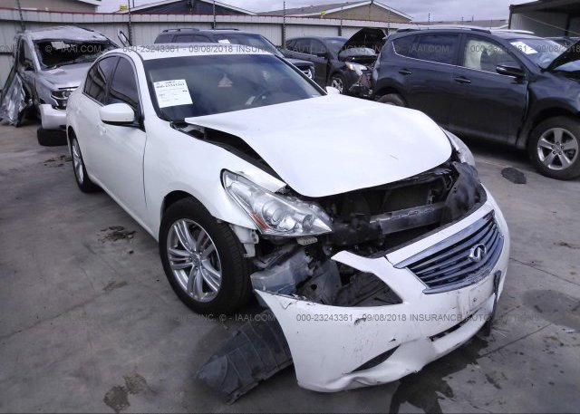 Jn1cv6ap6cm936511 Salvage Title White Infiniti G37 At Dale Tx On