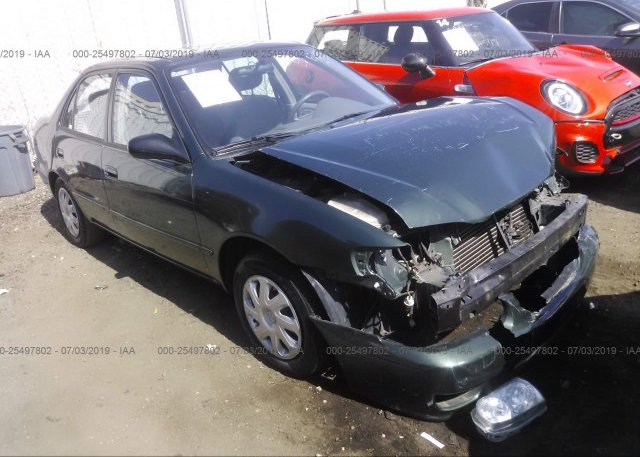 1NXBR12E91Z540451, Salvage Certificate green Toyota Corolla