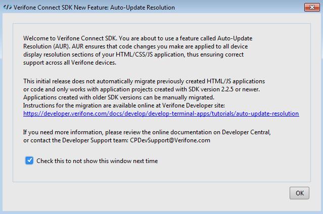 Hello World | | developer verifone com