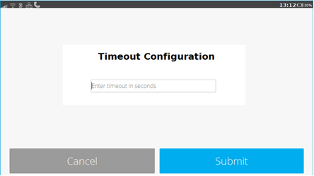 Timeout Management | | developer verifone com