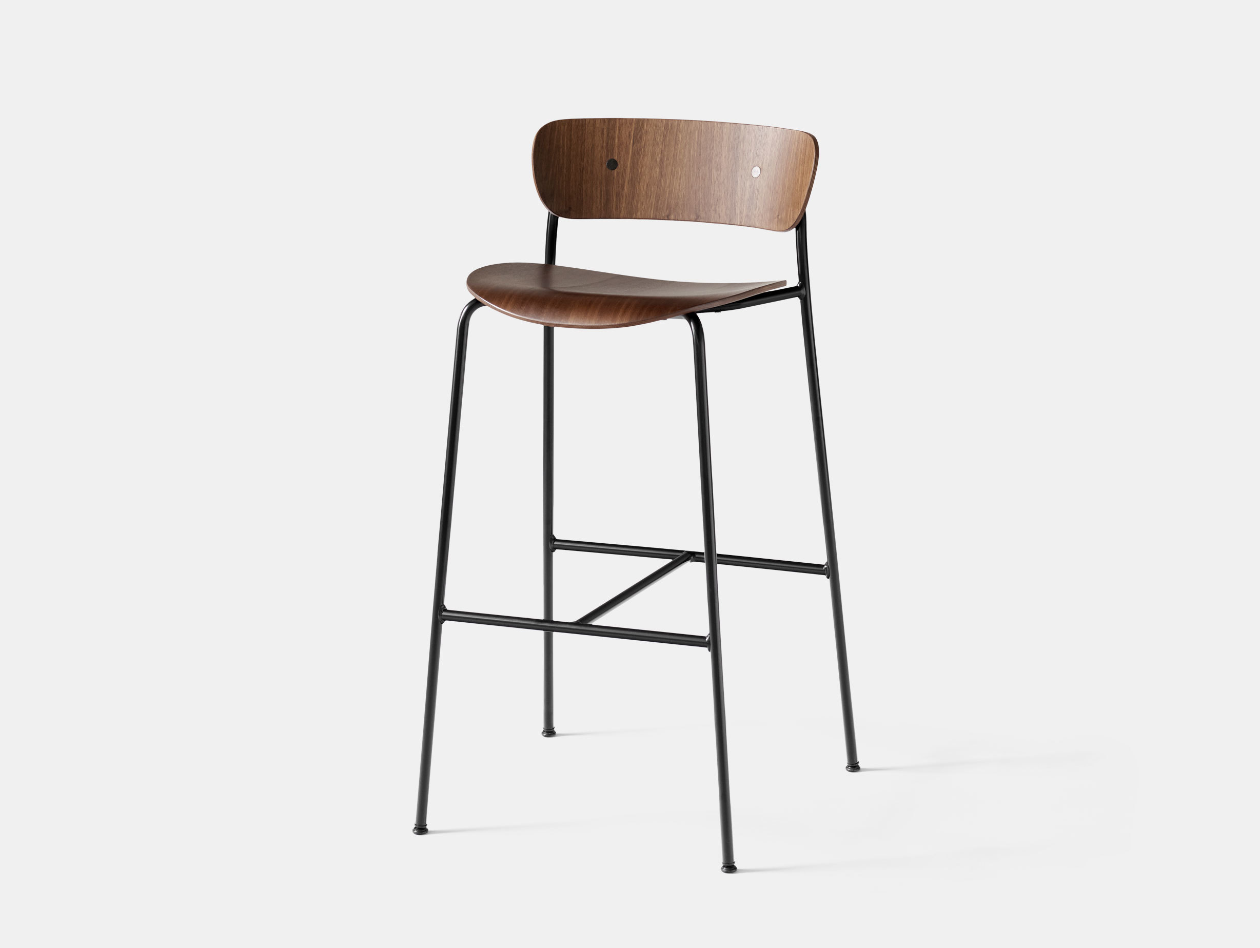 And Tradition Pavilion Bar Stool Walnut Anderssen Voll