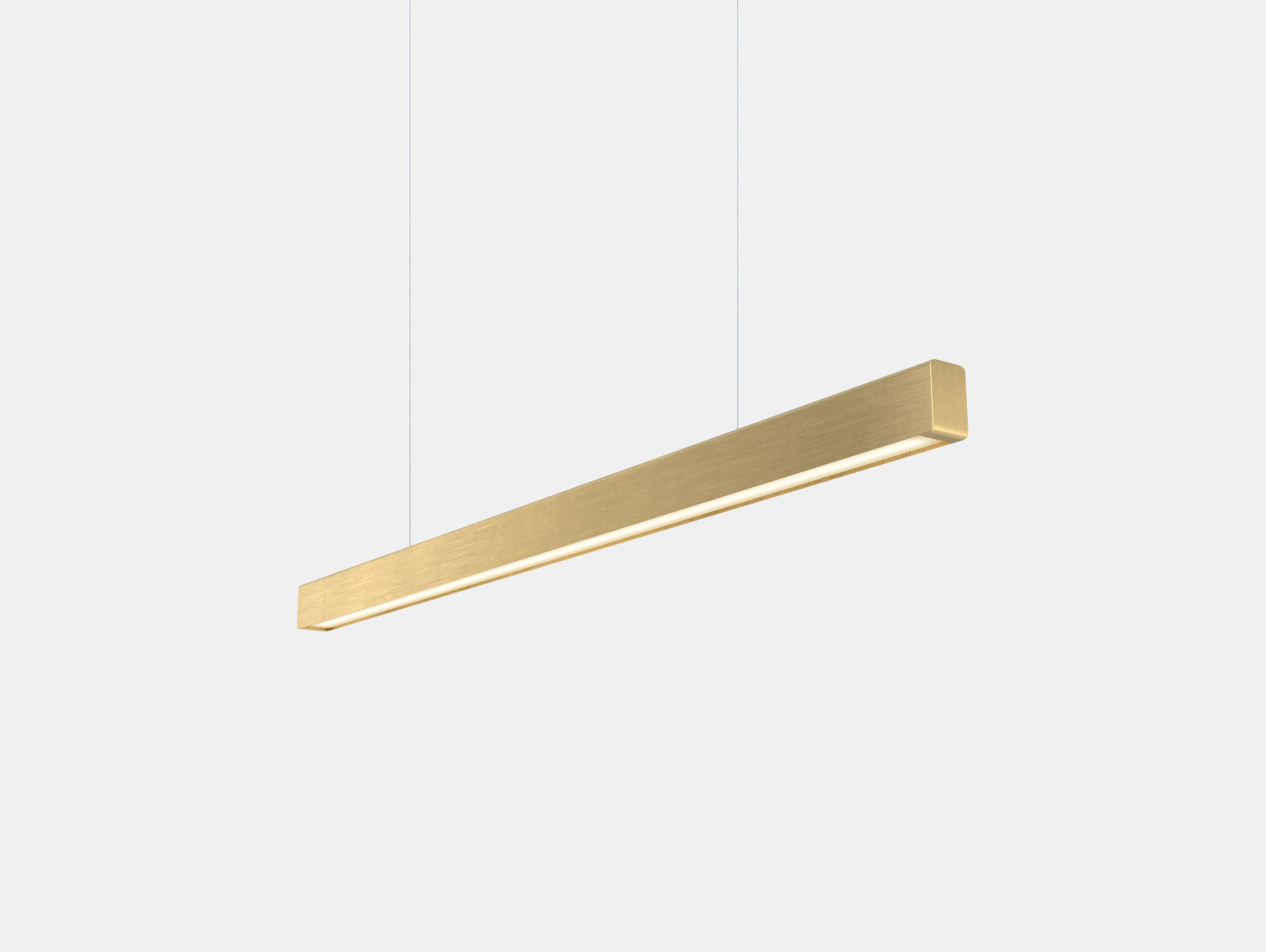 Anour I Model Pendant Light Brushed Brass L100 Arash Nourinejad