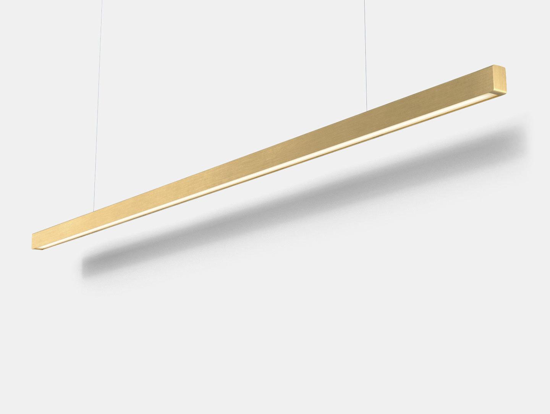 Anour I Model Pendant Light Brushed Brass L200 Arash Nourinejad