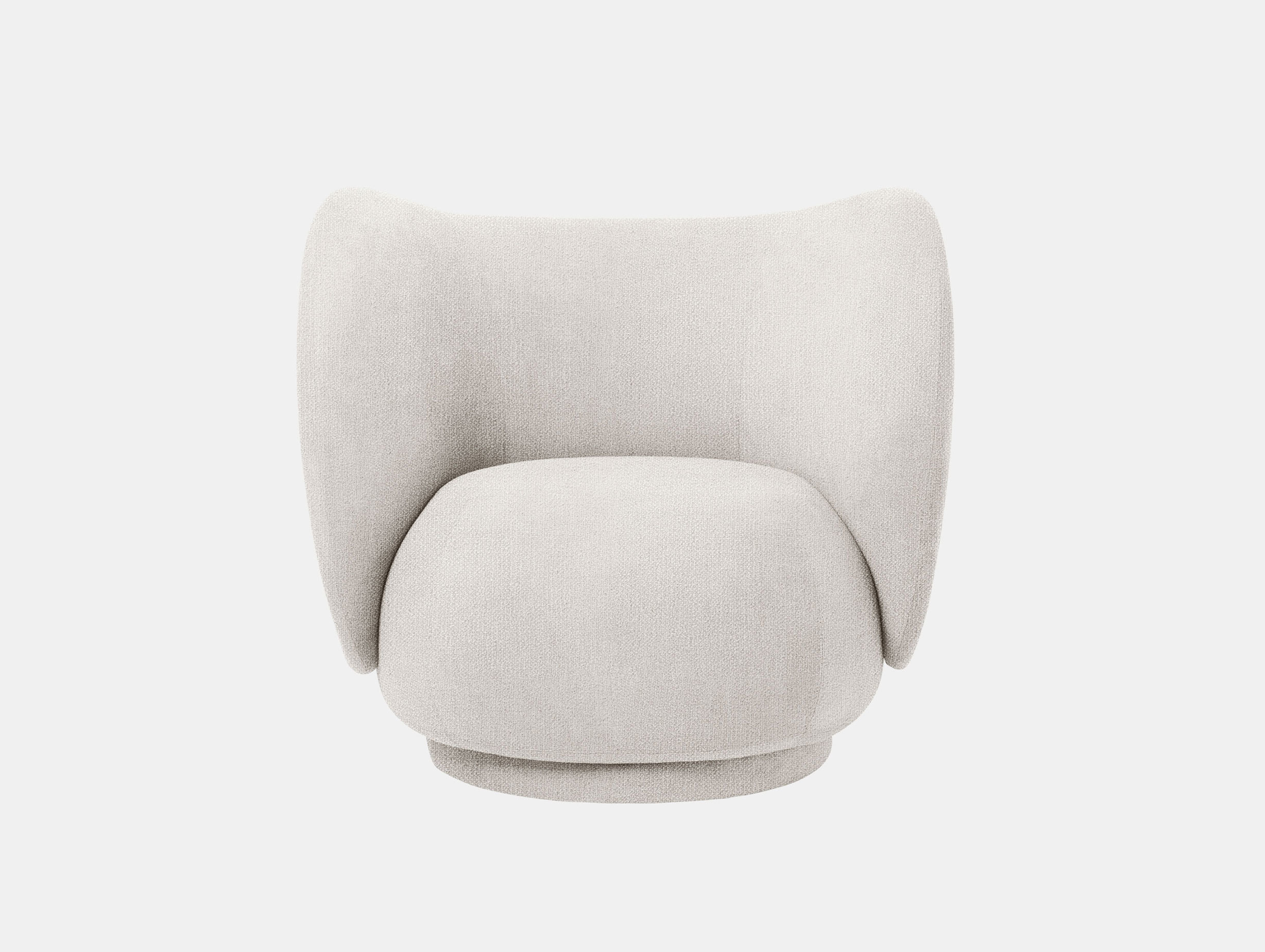 Ferm Living Rico Lounge Chair Off White Boucle 2