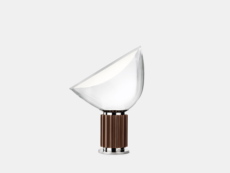 Flos Taccia Table Lamp Small Brown Achille Pier Giacomo Castiglioni