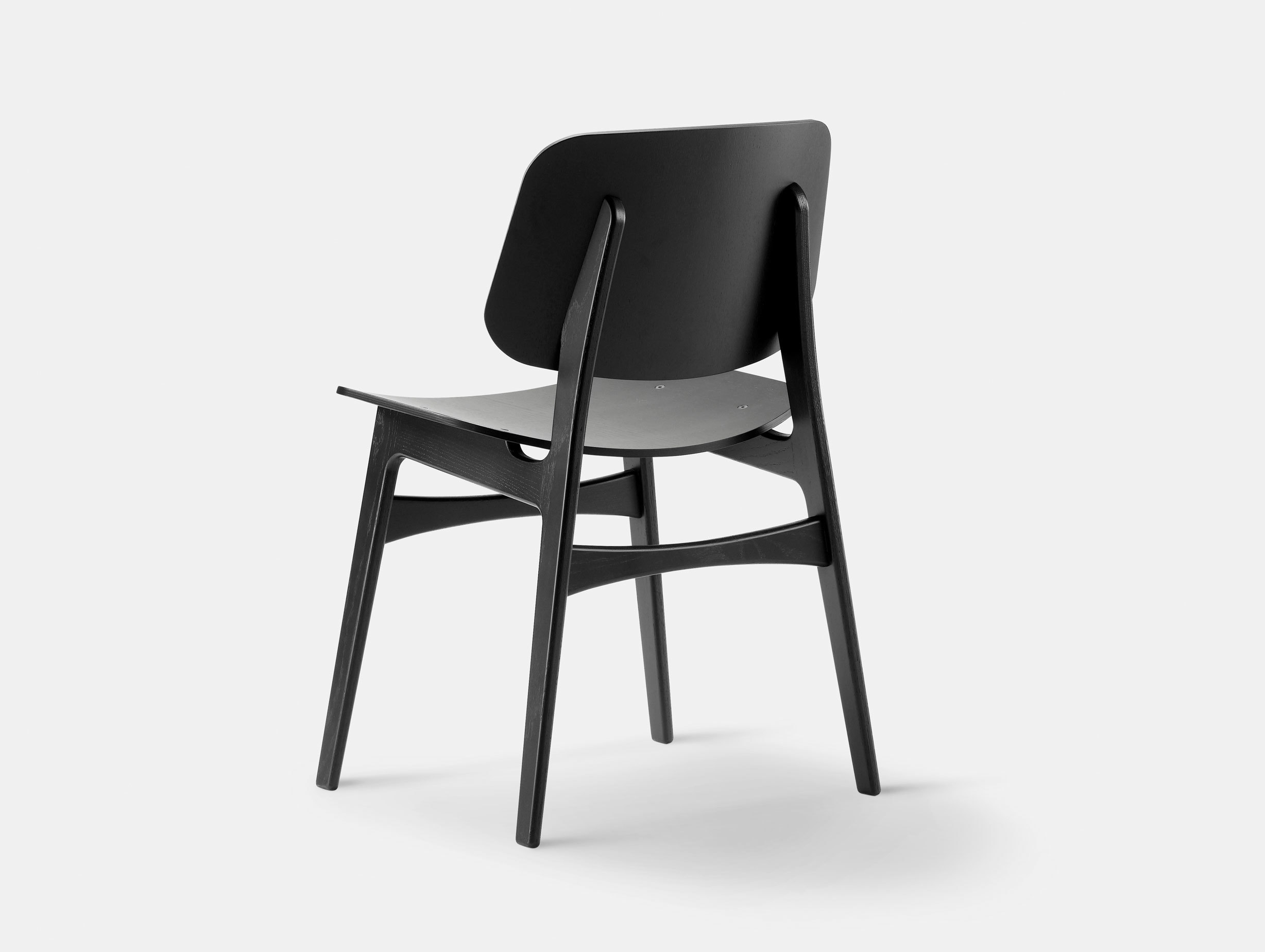 Fredericia Soborg Chair Wood Base Black Oak Borge Mogensen