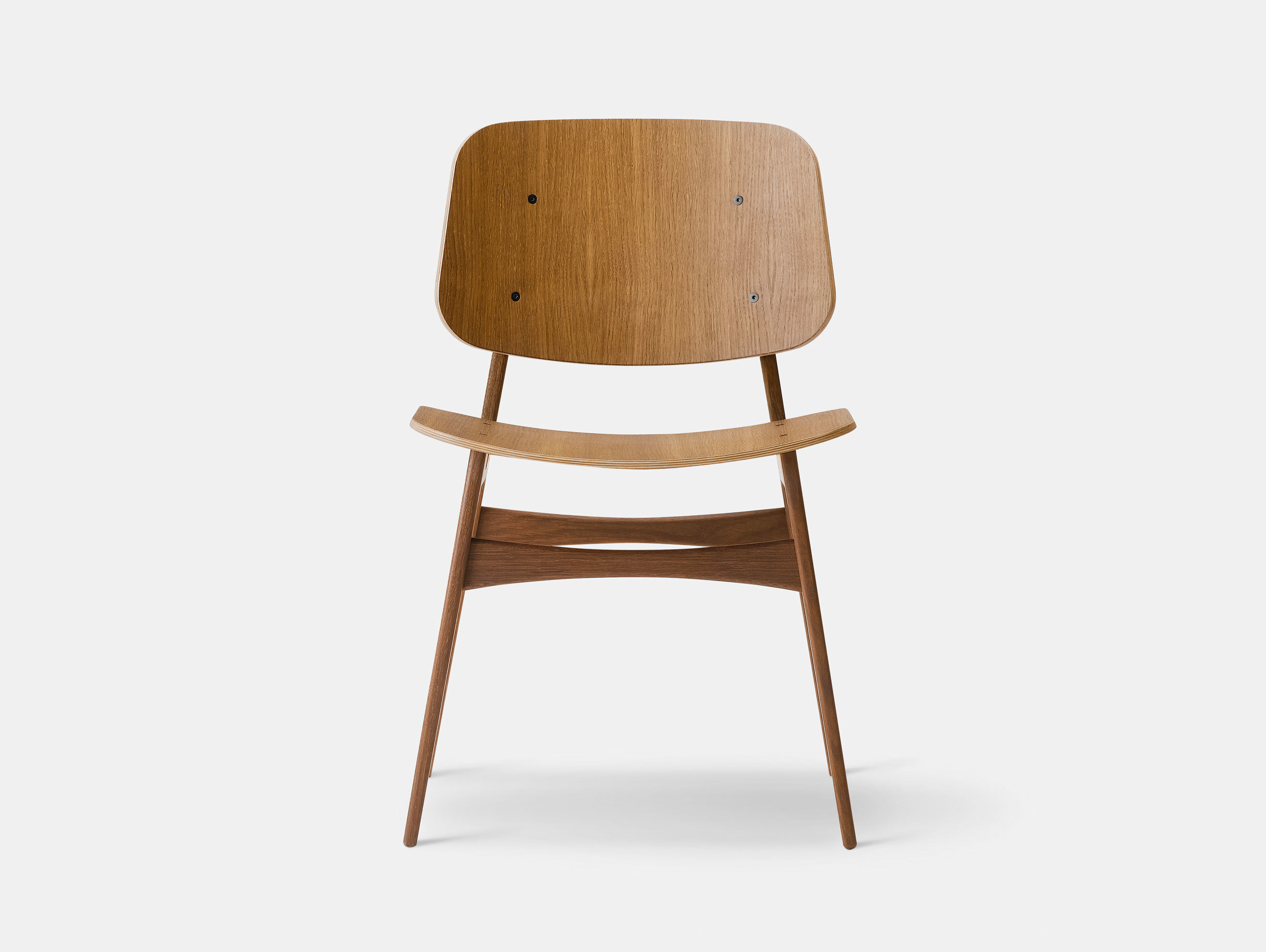 Fredericia Soborg Chair Wood Base Smoked Oak Borge Mogensen