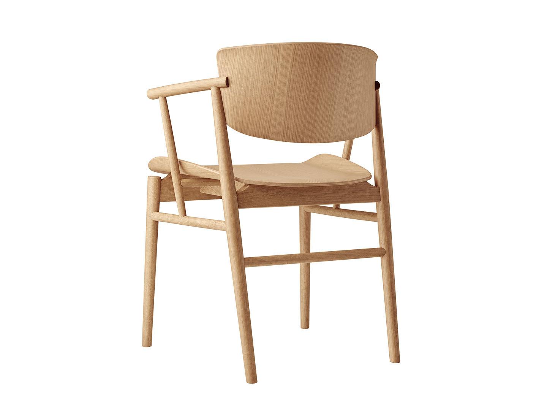 Fritz Hansen N01 Chair Oak Back Nendo