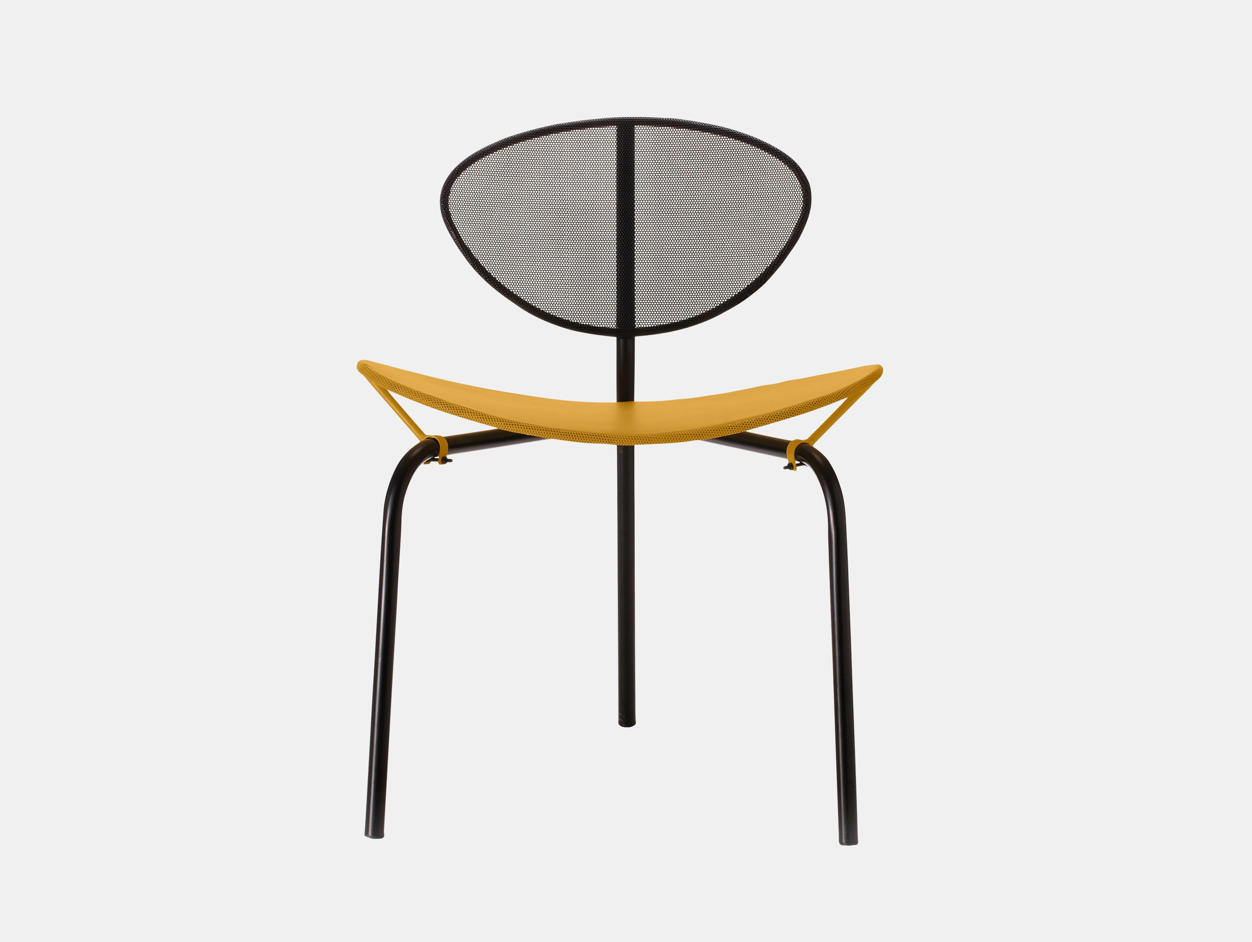 Gubi Nagasaki Dining Chair Yellow Black Mathieu Mategot