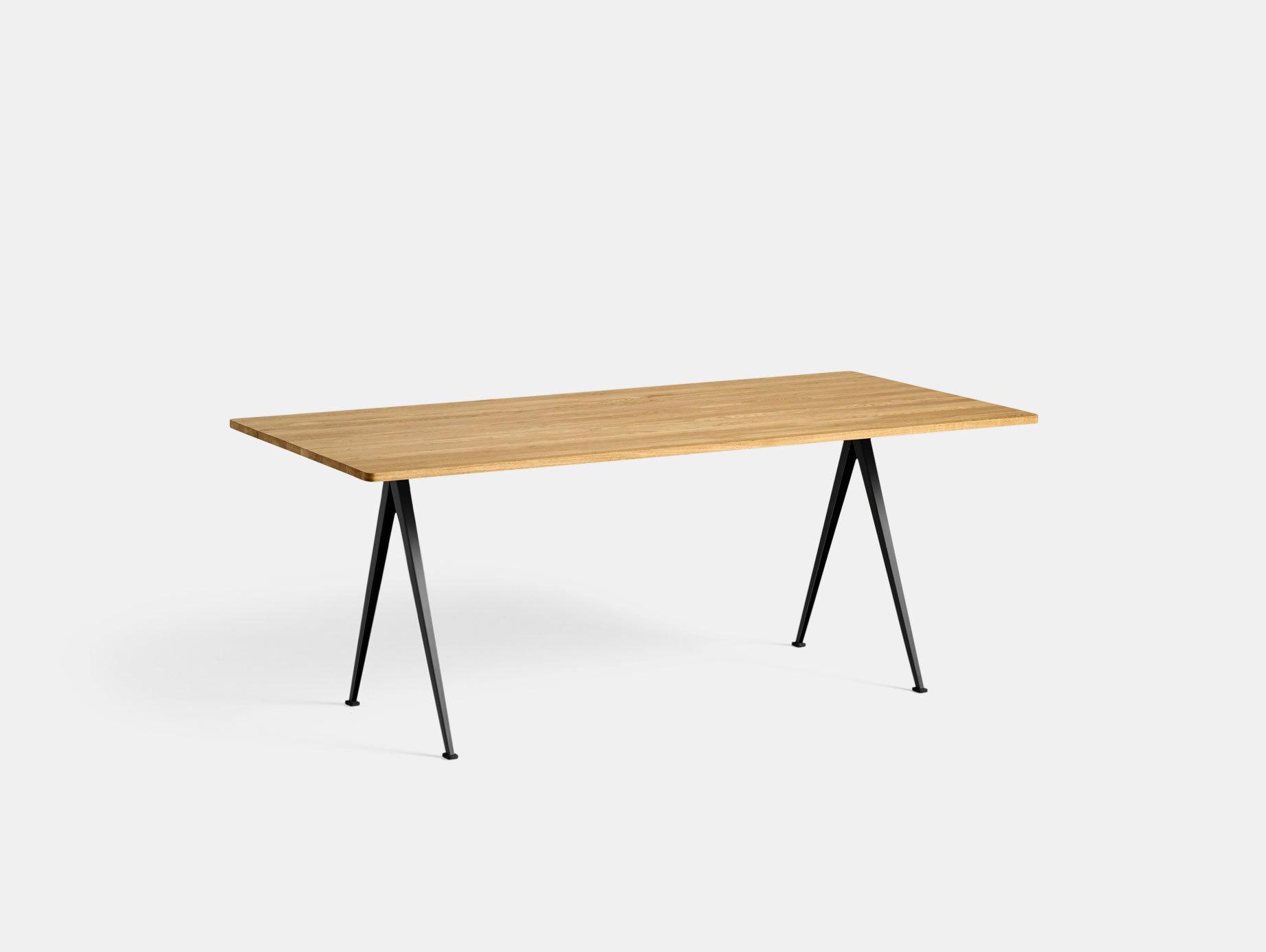 Hay Pyramid Table 02 Oak Black L190 Wim Rietveld Friso Kramer