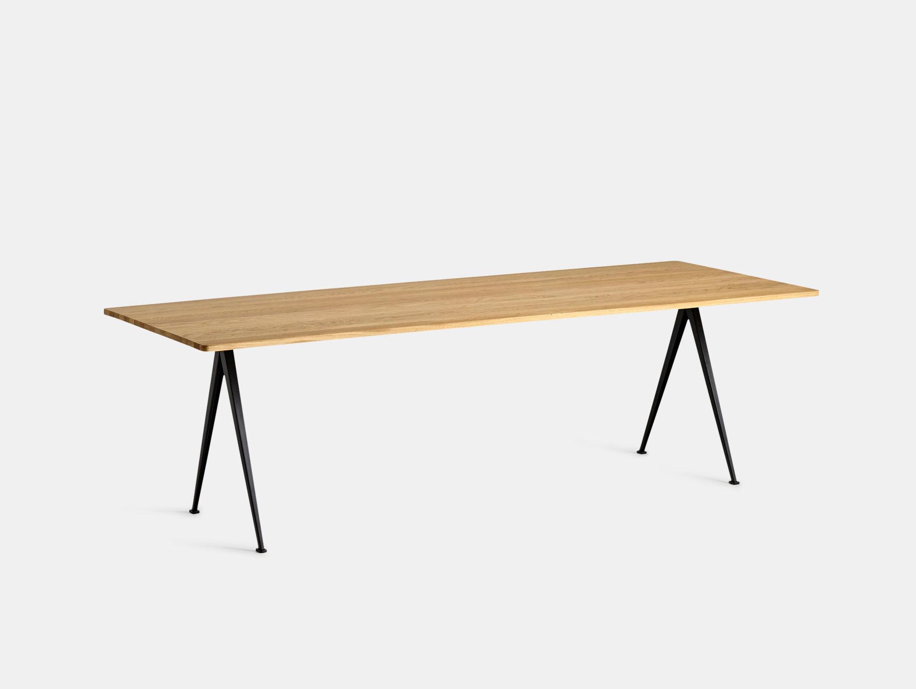 Hay Pyramid Table 02 Oak Black L250 Wim Rietveld Friso Kramer