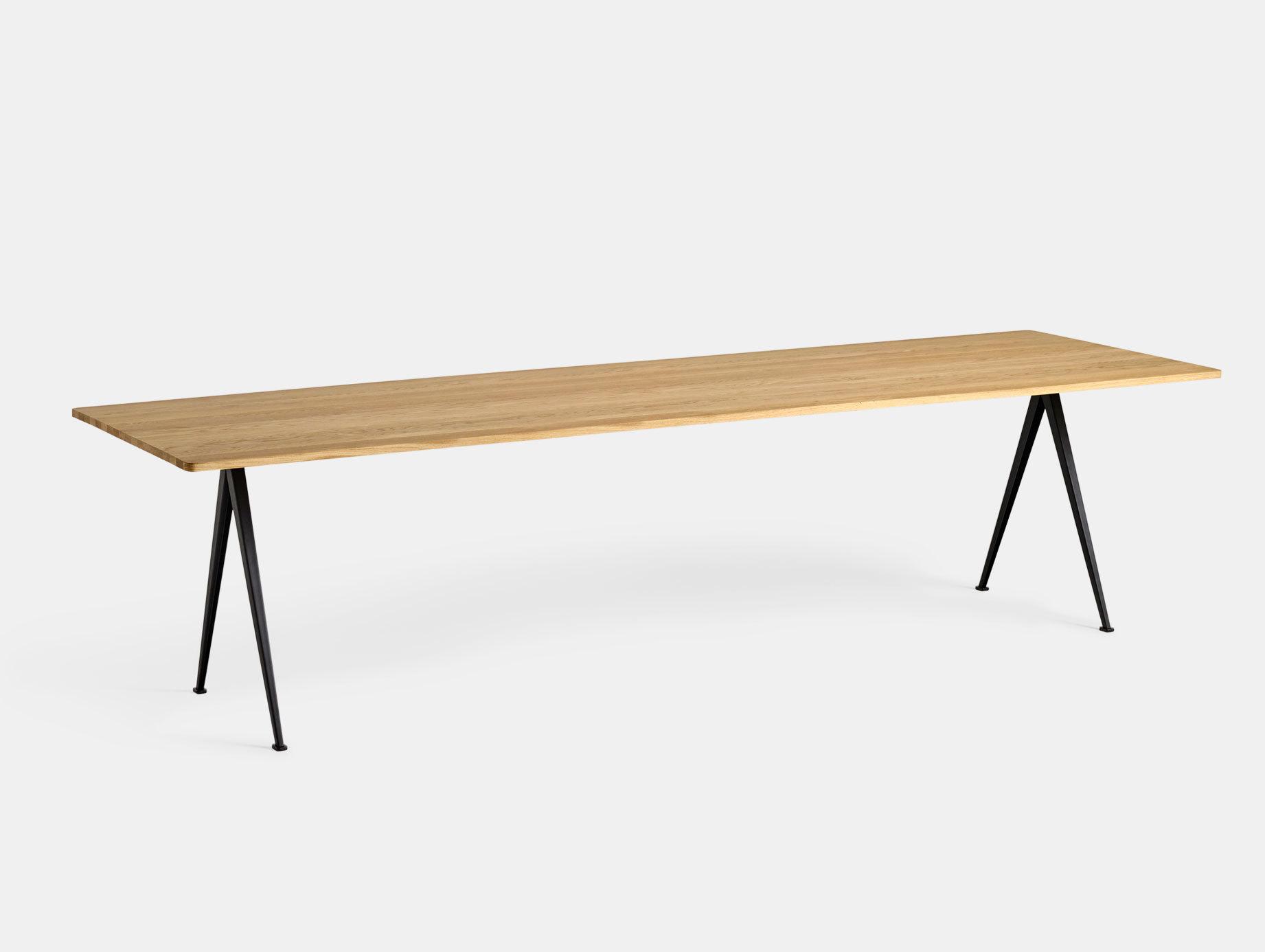 Hay Pyramid Table 02 Oak Black L300 Wim Rietveld Friso Kramer