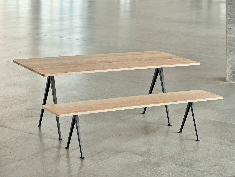 Hay Pyramid Table Bench Oak Wim Rietveld Friso Kramer