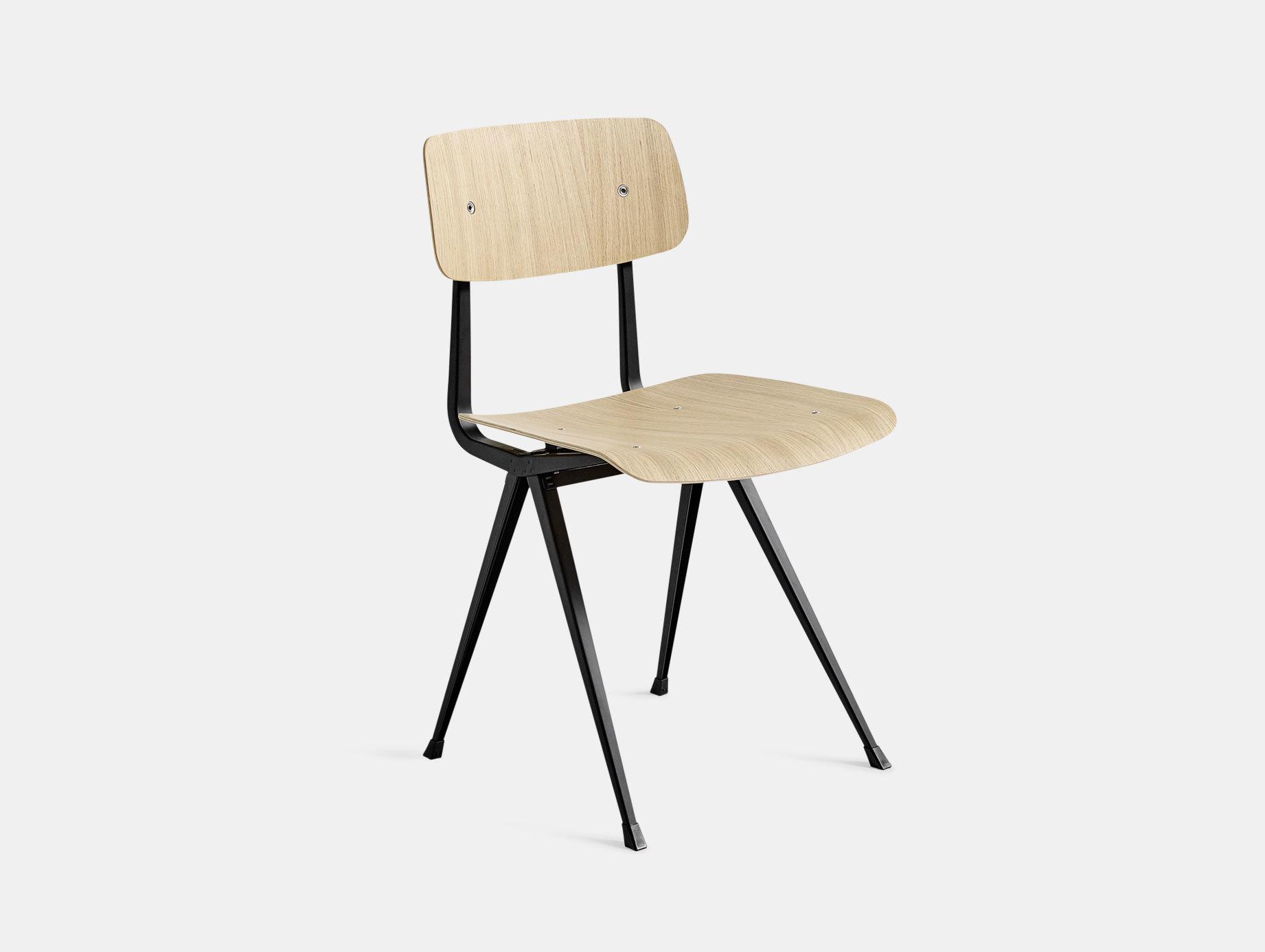 Hay Result Chair Oak Black Legs Wim Rietveld Friso Kramer