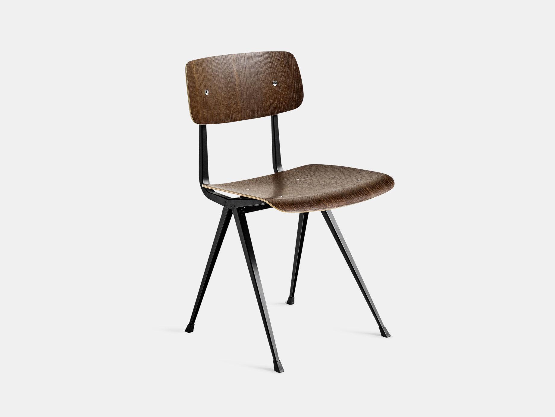 Hay Result Chair Smoked Oak Black Legs Wim Rietveld Friso Kramer