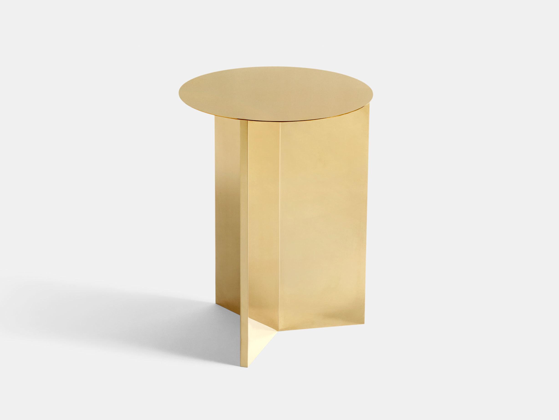 Hay Slit Table High Brass