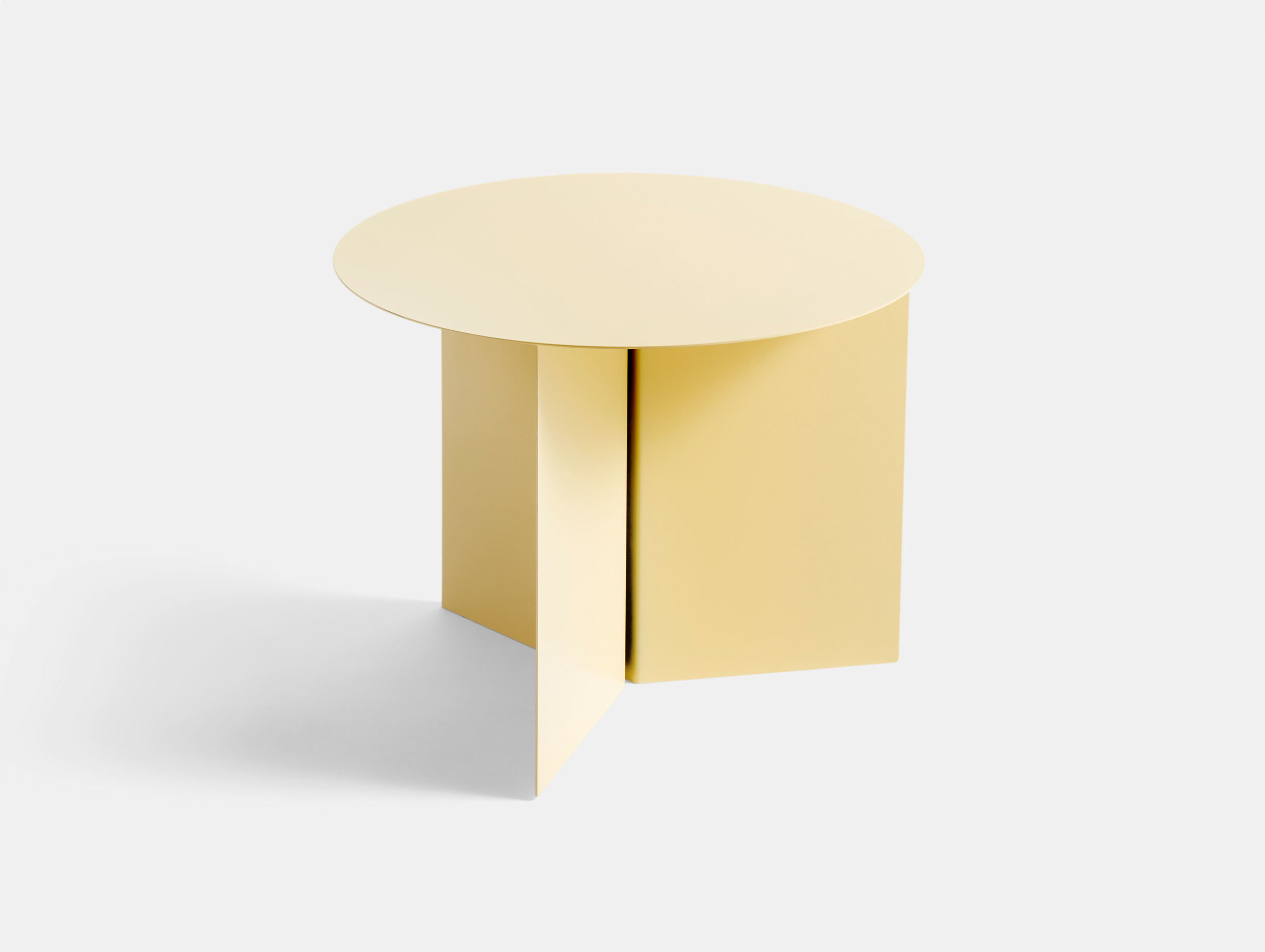 Hay Slit Table Round Light Yellow