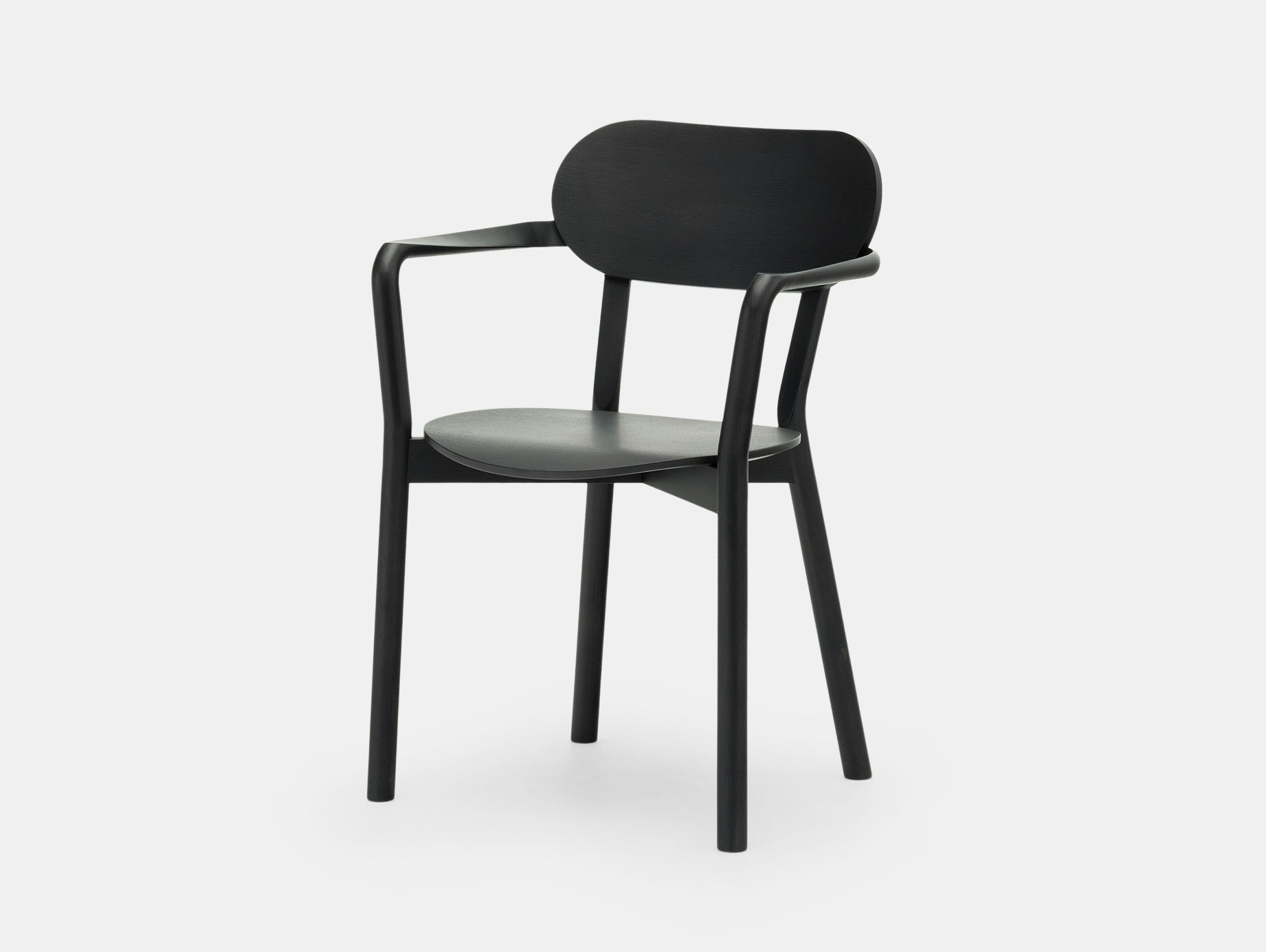 Karimoku Castor Armchair Plus Black Big Game