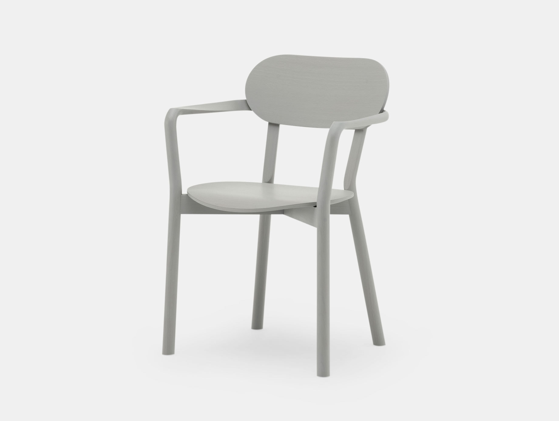 Karimoku Castor Armchair Plus Grey Big Game