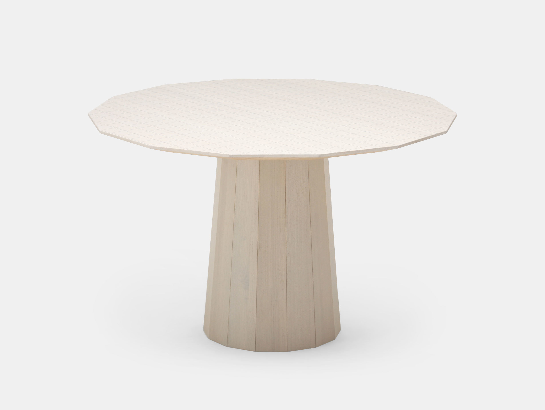 Karimoku Colour Wood Dining Table Grey Grid Scholten Baijings