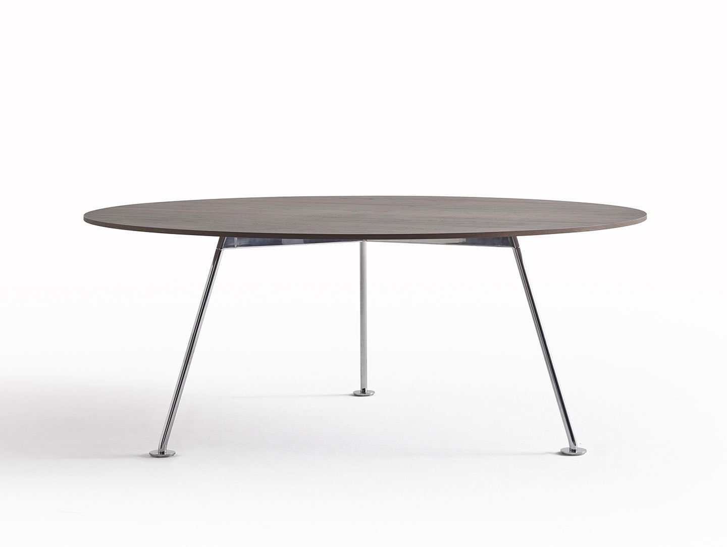 Knoll Grasshopper Table Round Wood Piero Lissoni