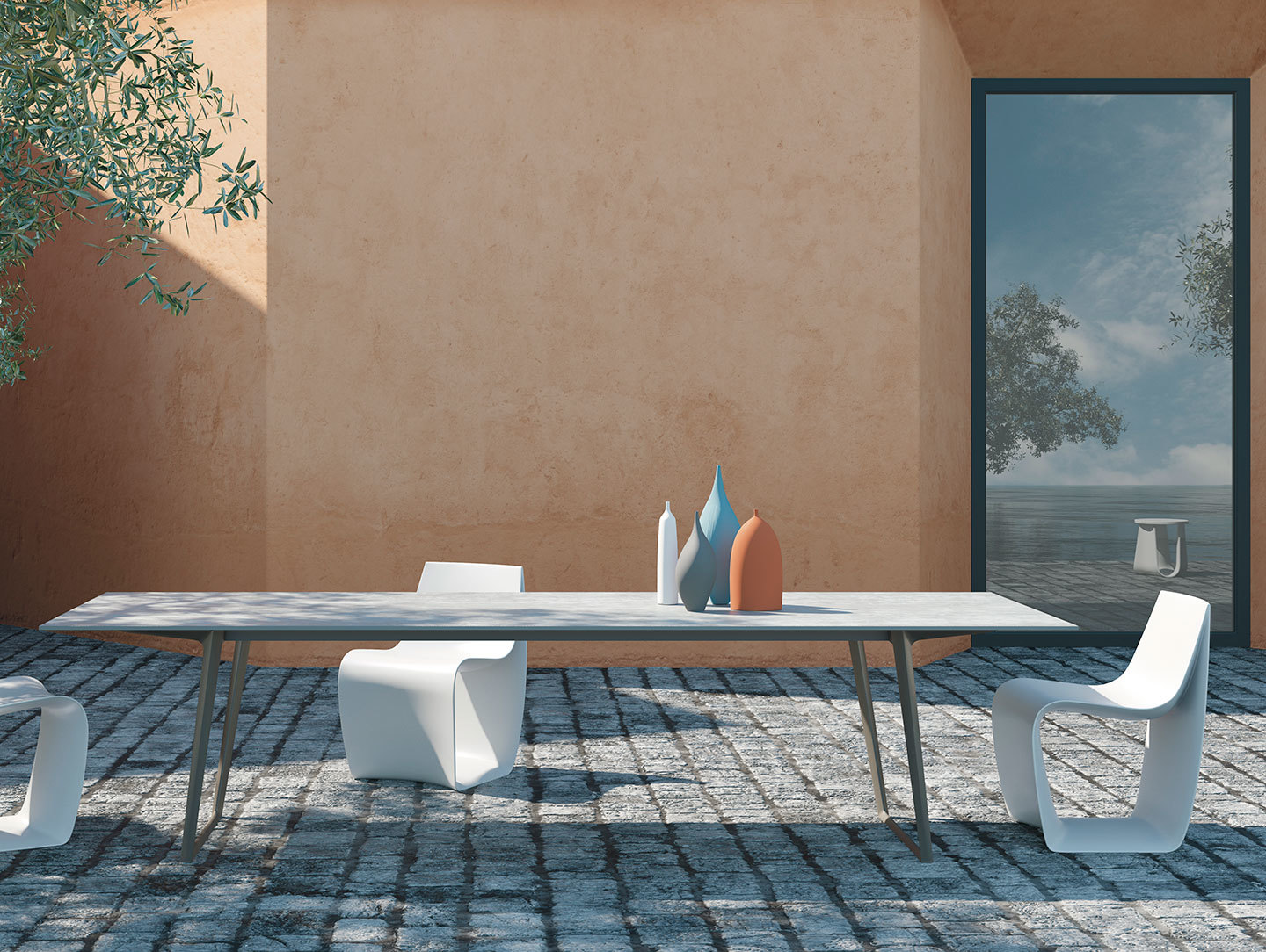 Mdf Italia Axy Table Outdoor Claudio Bellini
