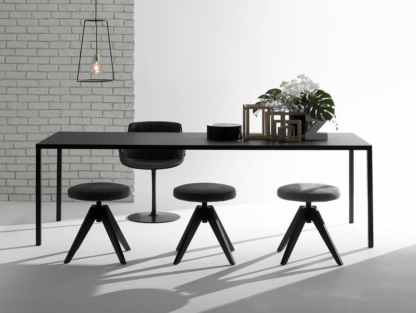 Mdf Italia Tense Table 180 Black Piergiorgio Cazzaniga