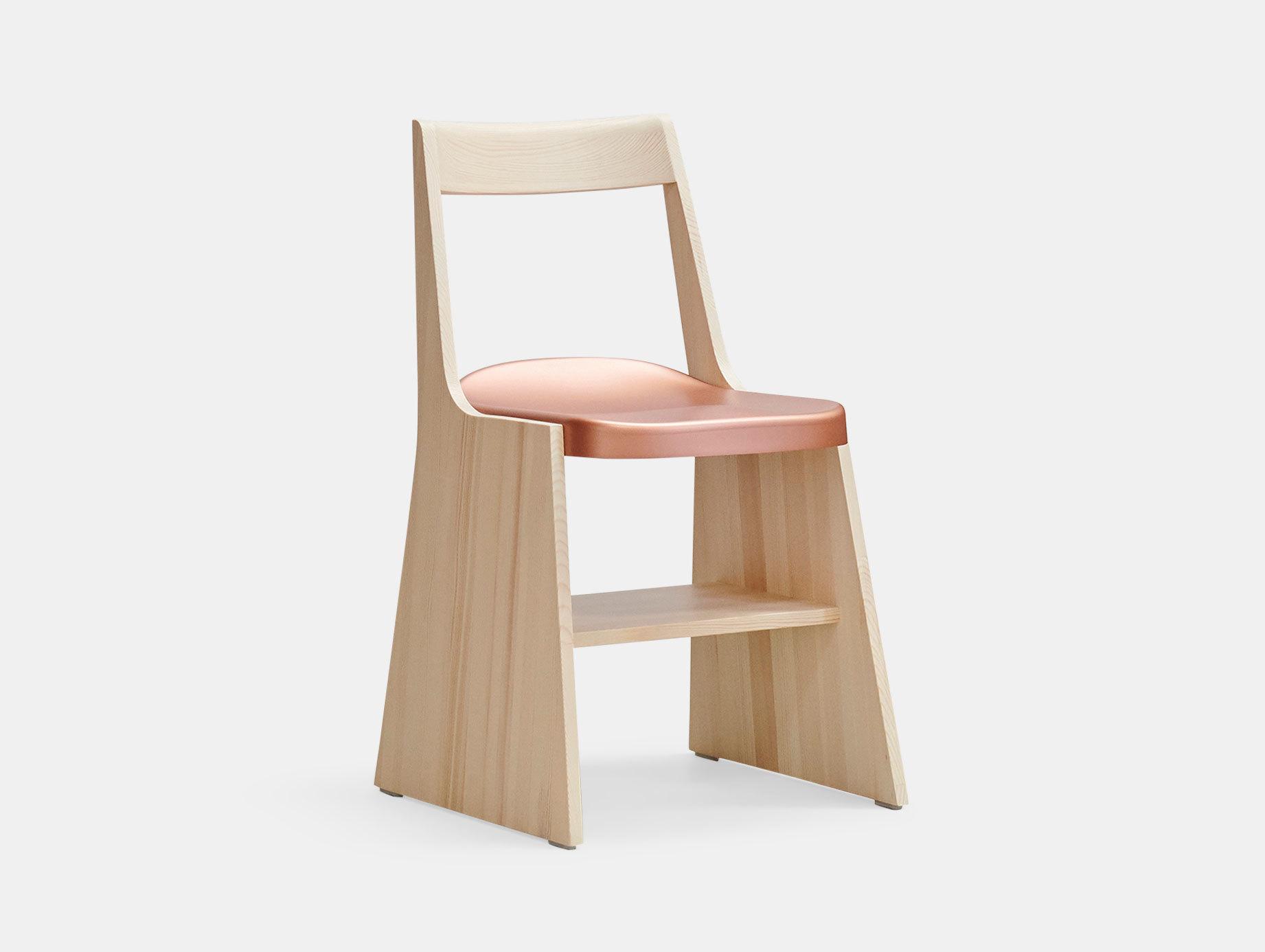 Mattiazzi Fronda Chair Pine Copper Seat Sam Hecht Kim Colin