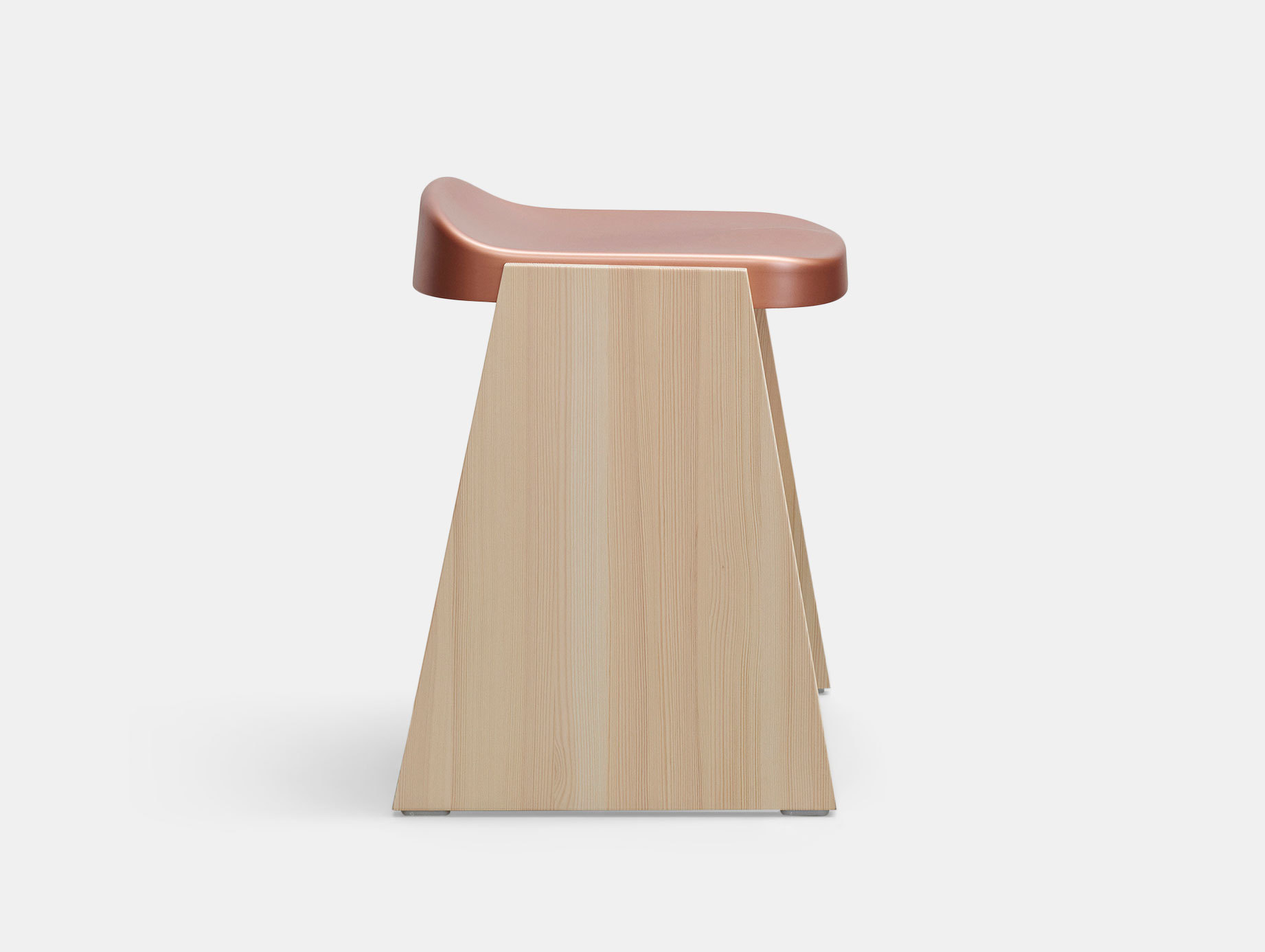 Mattiazzi Fronda Stool Pine Copper Seat Sam Hecht Kim Colin