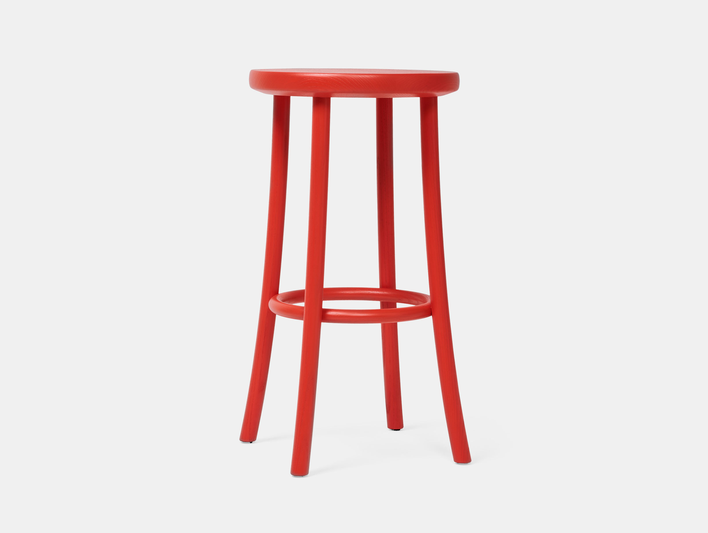 Mattiazzi Zampa High Stool Red 2 Jasper Morrison