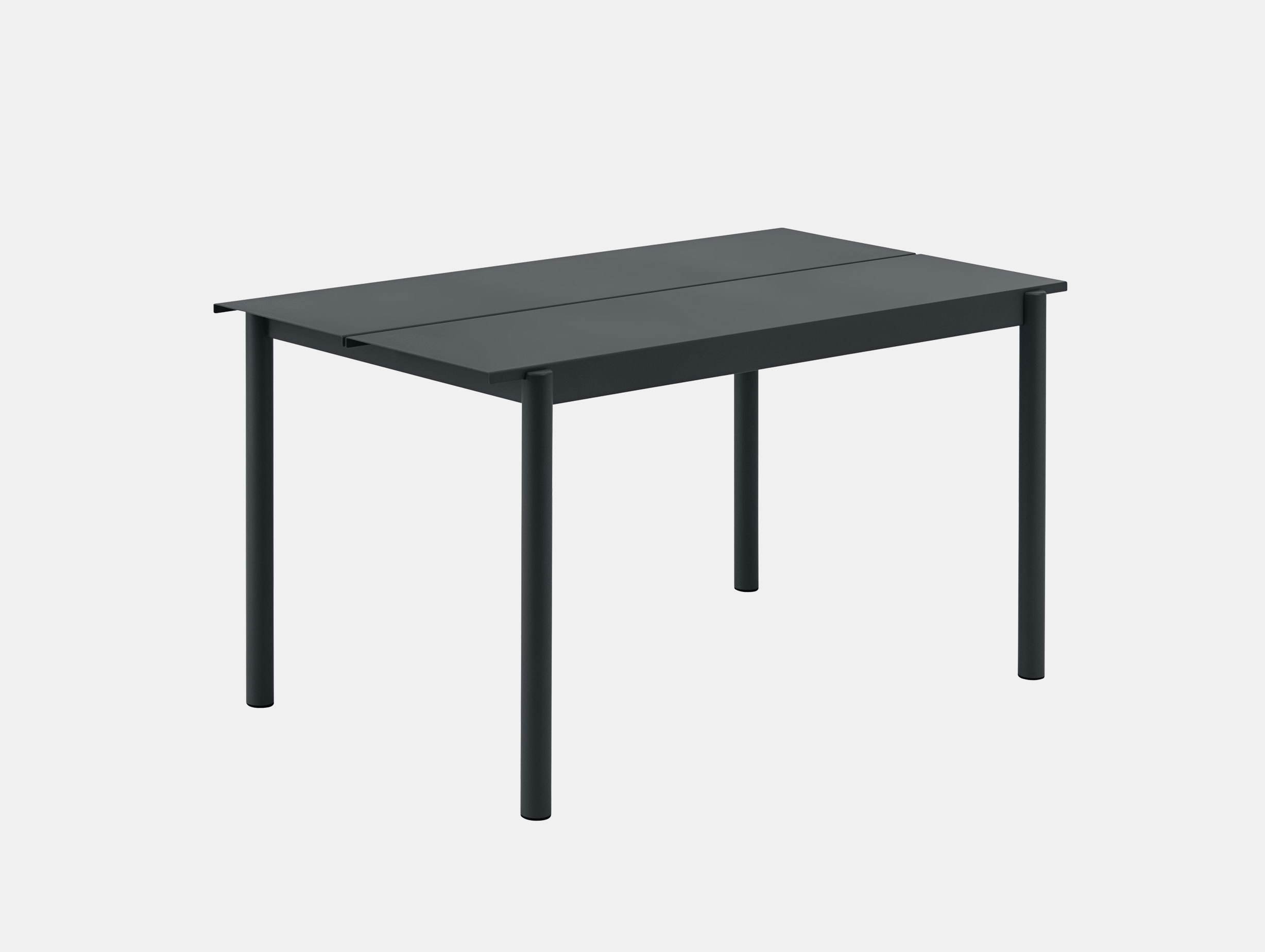 Muuto Linear Steel Outdoor Table L 140Cm Black Thomas Bentzen