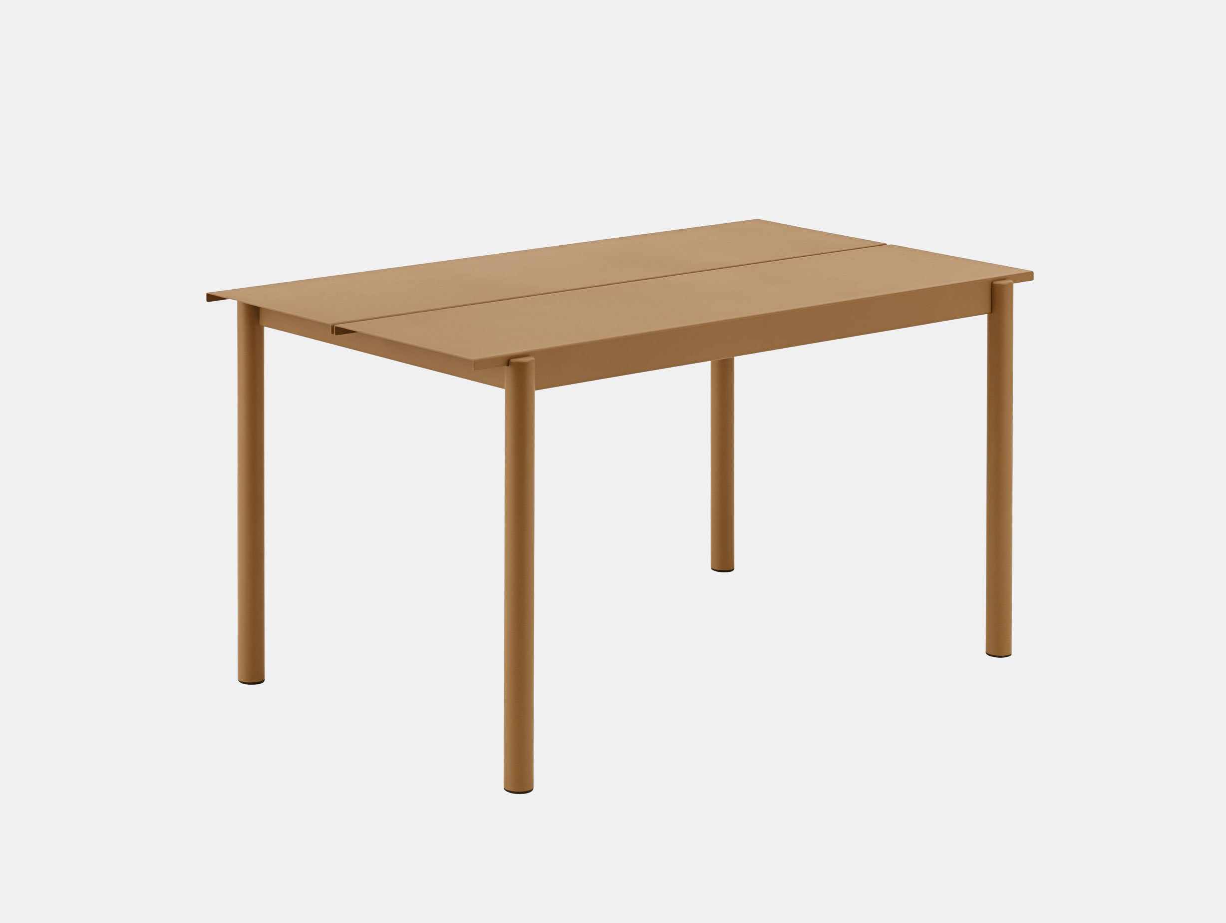 Muuto Linear Steel Outdoor Table L 140Cm Burnt Orange Thomas Bentzen