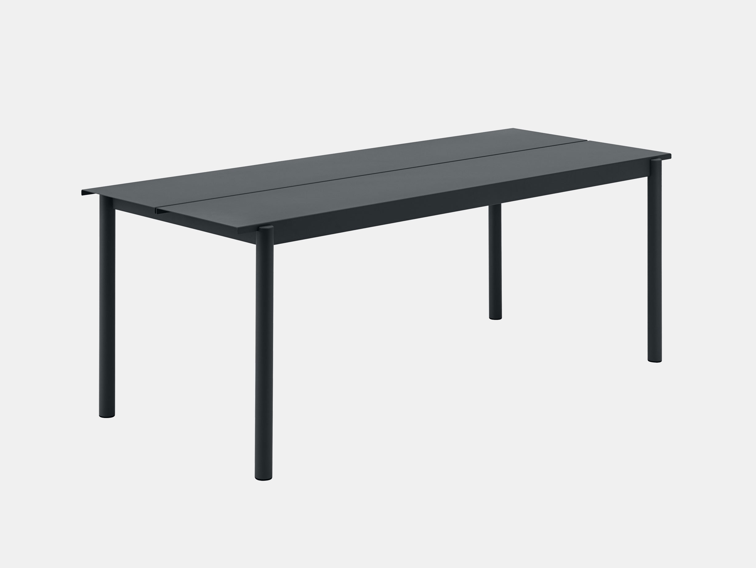 Muuto Linear Steel Outdoor Table L 200Cm Black Thomas Bentzen