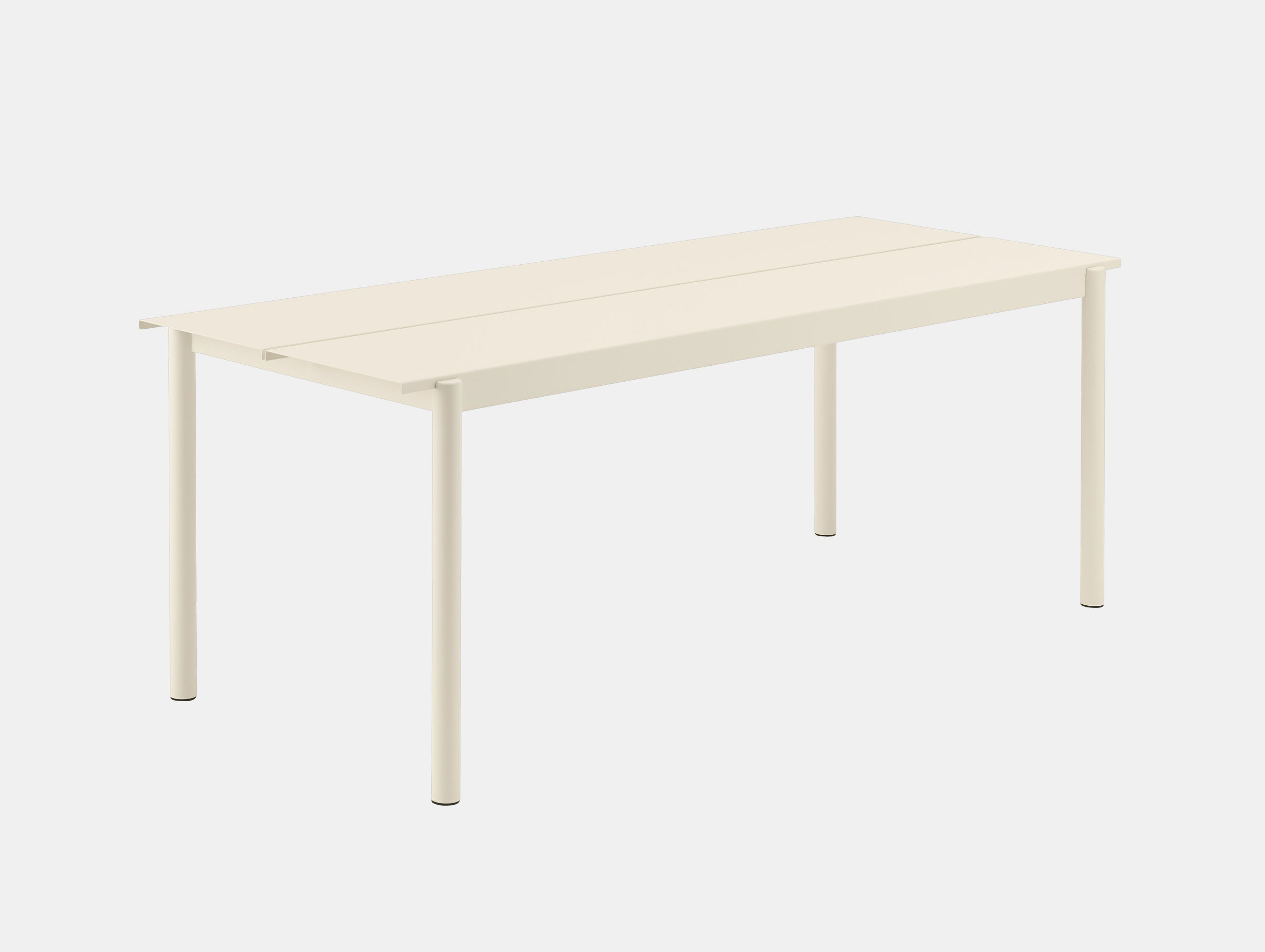 Muuto Linear Steel Outdoor Table L 200Cm Off White Thomas Bentzen