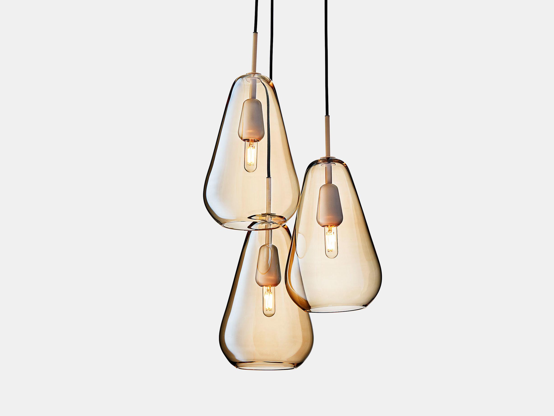 Nuura Anoli 3 Pendant Light Gold Glass Sofie Refer