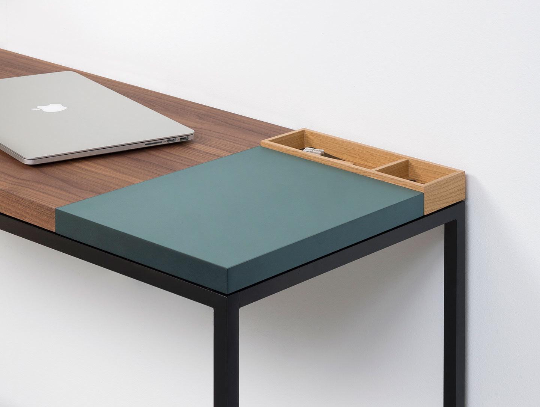 Pastoe Plato Walnut Desk With Mist Section X02