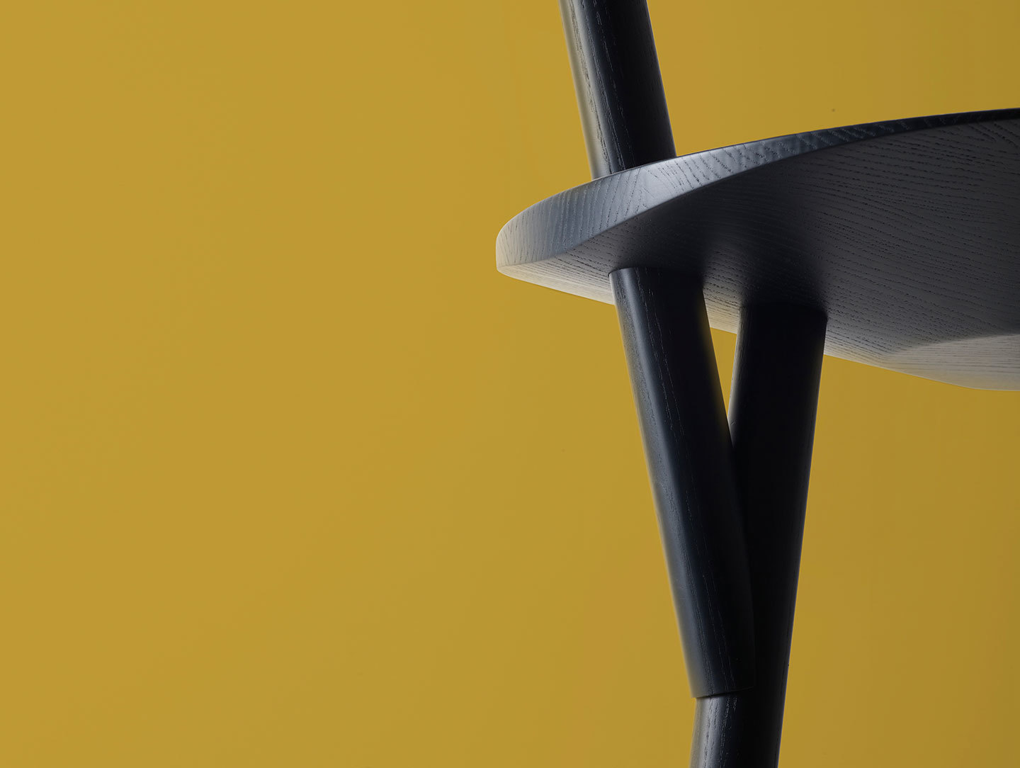 Please Wait To Be Seated Spade Chair Blue Detail