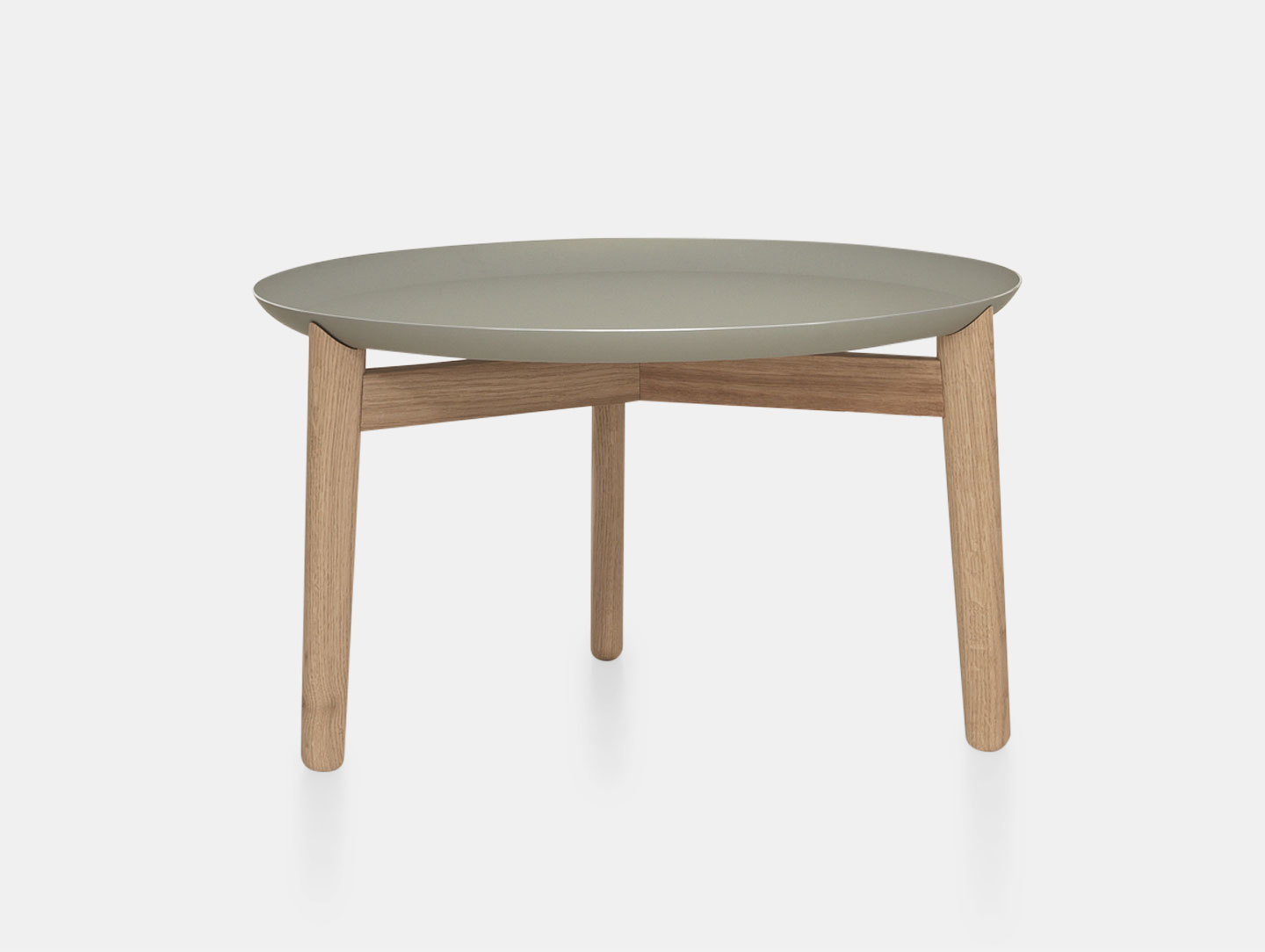 Zeitraum Plaisir Table Oak Grey Top Dia54 H32 Formstelle