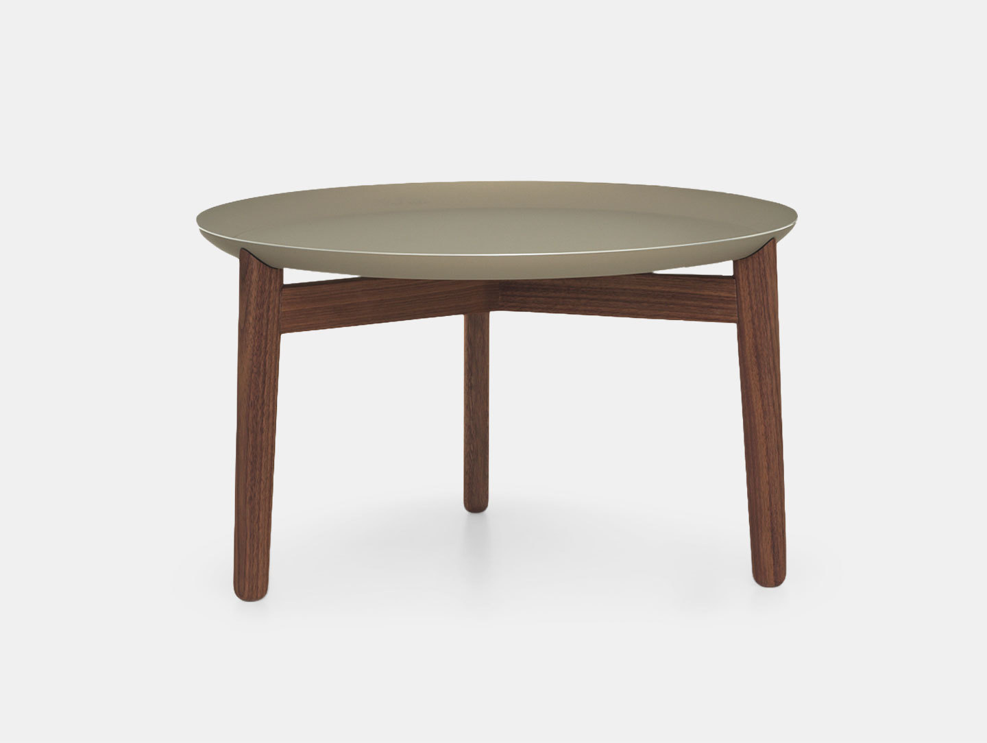 Zeitraum Plaisir Table Walnut Grey Top Dia54 H32 Formstelle