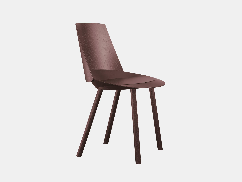 E15 Houdini Chair Chocolate Brown Stefan Diez