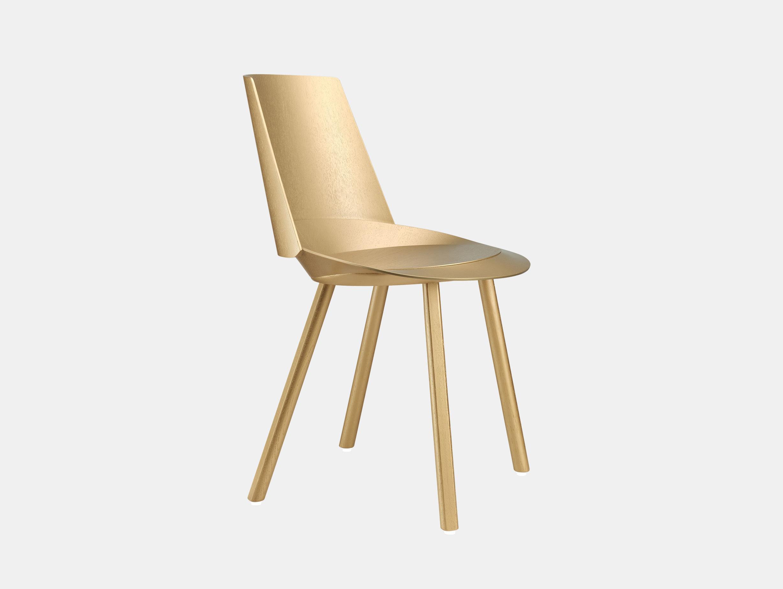 E15 Houdini Chair Gold Stefan Diez