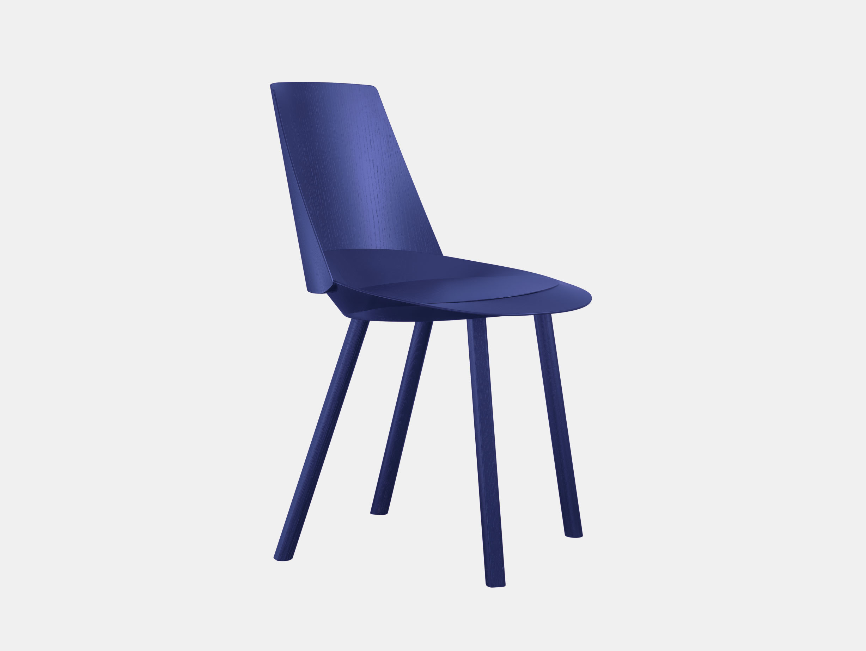 E15 Houdini Chair Lapis Blue Stefan Diez