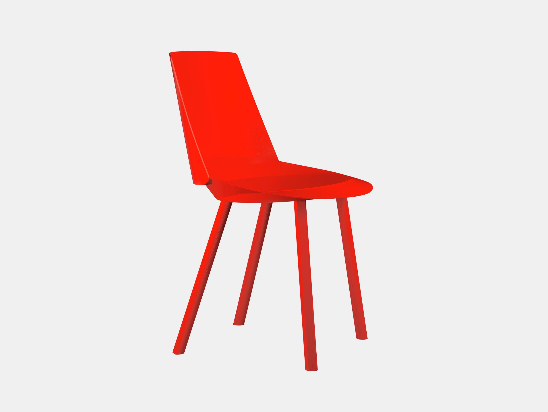 E15 Houdini Chair Neon Red Stefan Diez