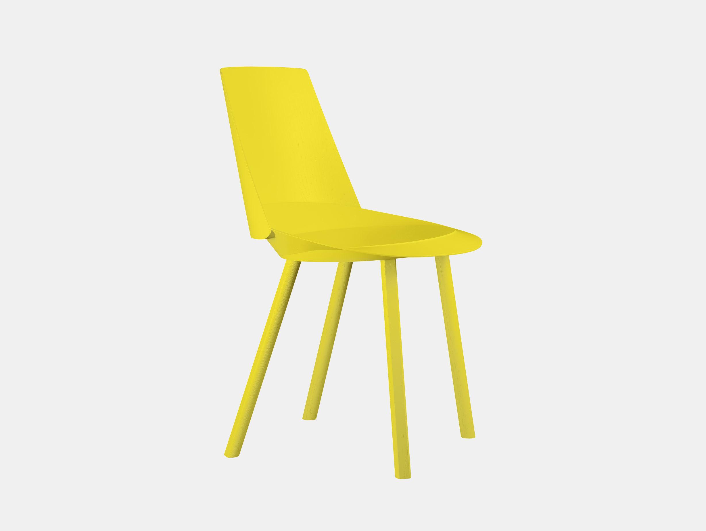 E15 Houdini Chair Sulfur Yellow Stefan Diez