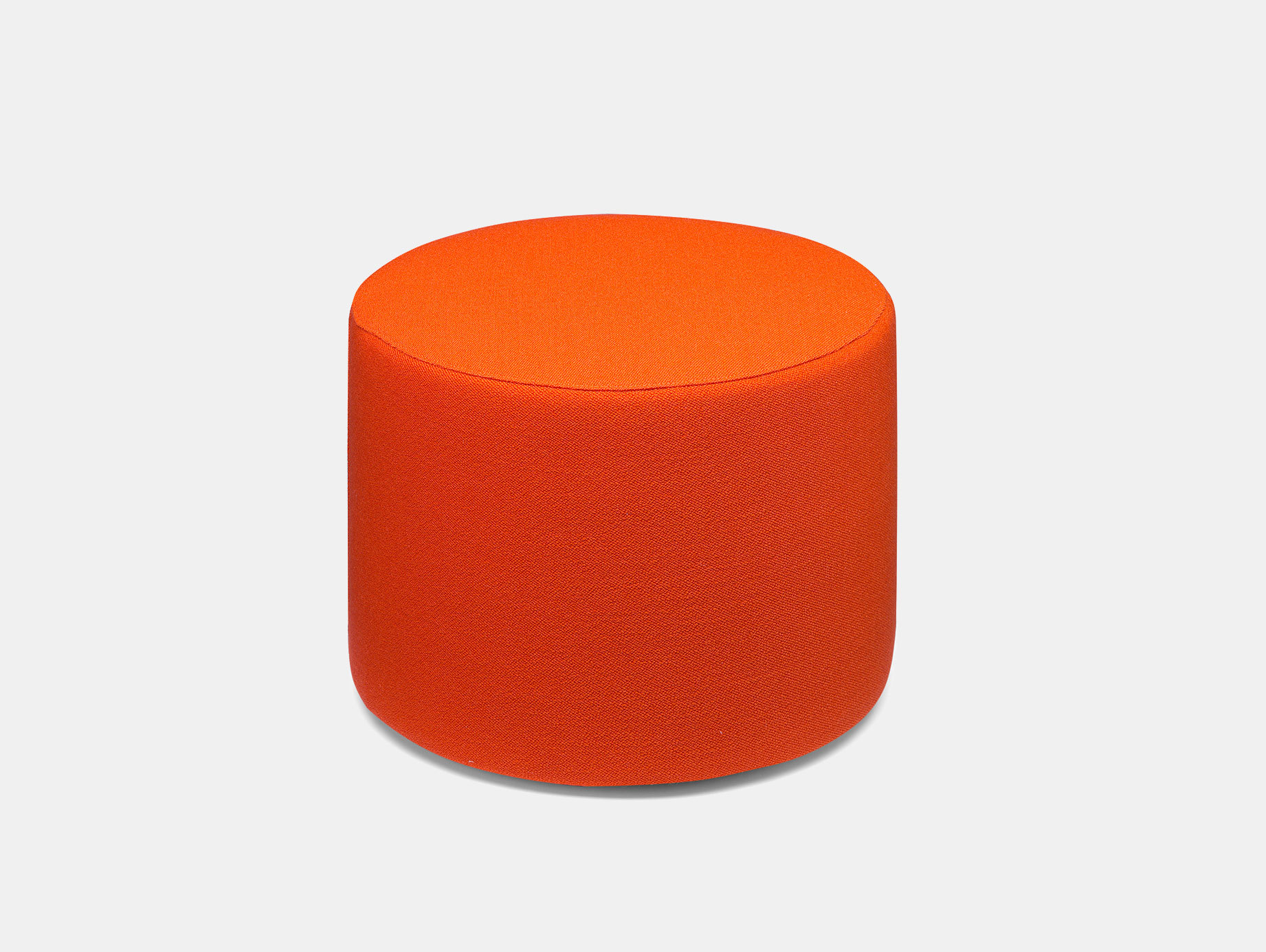 E15 Kerman Pouf Orange Fabric