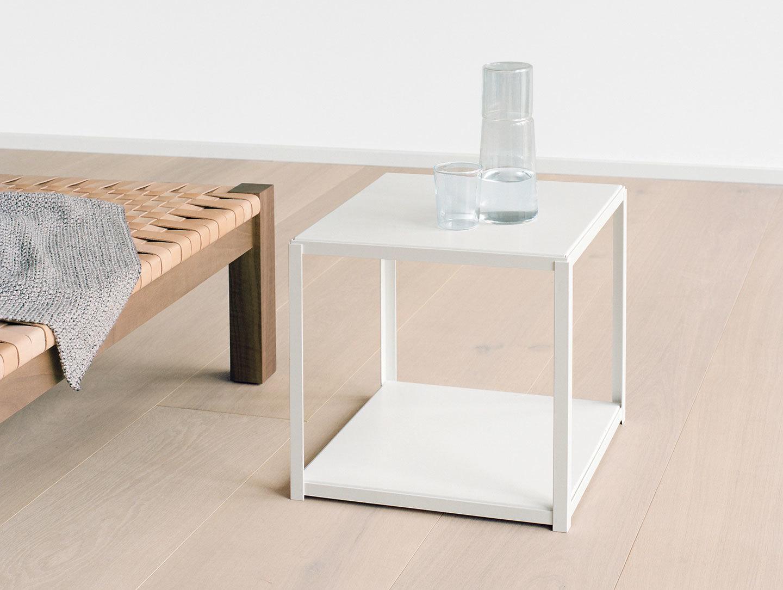 E15 Forty Forty Side Table White Base Ferdinand Kramer