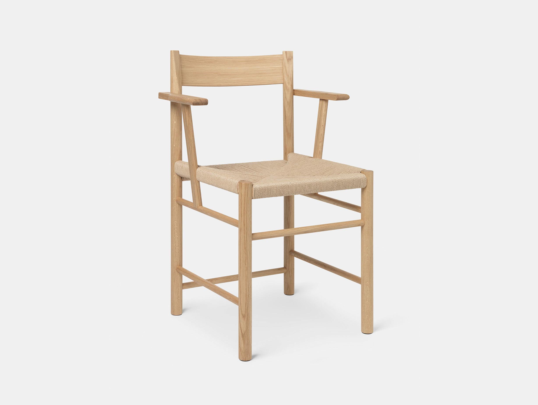 Brdr Kruger F Armchair oak papercord Rasmus Baekkel Fex