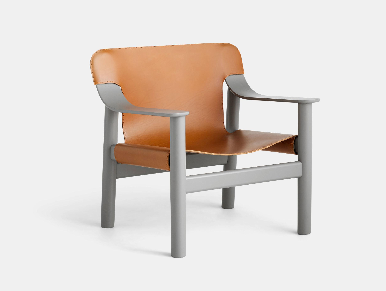 Hay Bernard Easy Chair grey brandy leather Shane Schneck