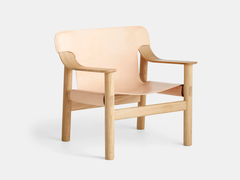 Hay Bernard Easy Chair oak natural leather Shane Schneck